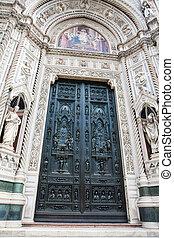 bonito, 1436, porta, di, formalmente, cattedrale, del,...