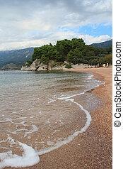 bonito, adriático, praia, costa