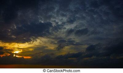 bonito, amanhecer colorido