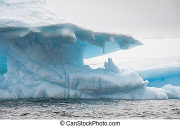 bonito, antártica, iceberg