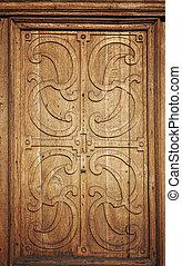 bonito, antigas, porta