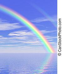 bonito, arco íris
