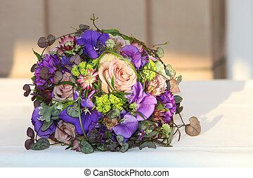 bonito, arranjo, de, flores