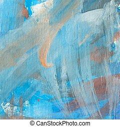 bonito, azul, aquarela, fundo