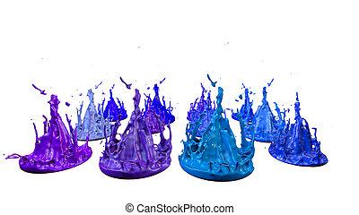 bonito, azul, jogo, ultra, dança, tintas, v10, quality., ...