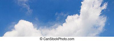 bonito, azul, macio, nuvens, céu