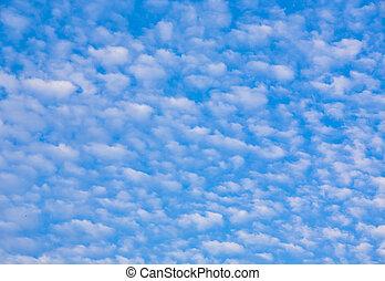 bonito, azul, nuvens, céu
