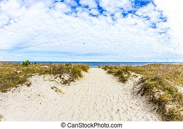 bonito, báltico, praia, mar