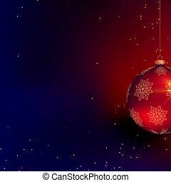bonito, bola natal, espaço, texto, 3d