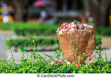 bonito, buquet, flores