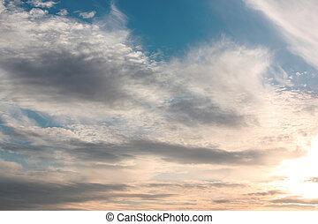 bonito, céu azul