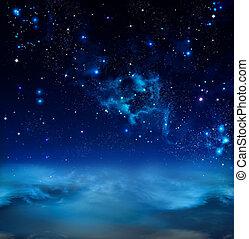 bonito, céu estrelado