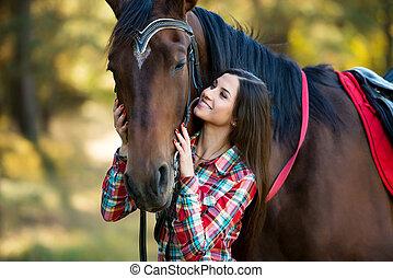 Cavalo Romanticos Modelos Dois Posar Femininas