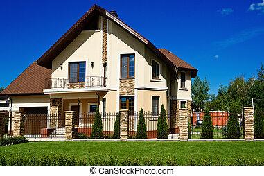 bonito, casa, modernos