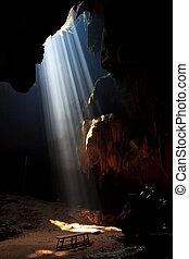 bonito, cavernas, em, parque nacional, tailandia