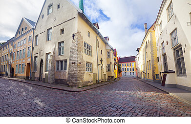 bonito, cidade, antigas, estónia, tallinn., vista