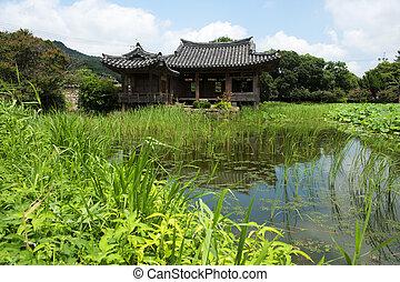 bonito, cidades, seochulji, coréia, sul