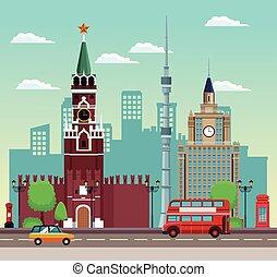 bonito, cityscape, europeu