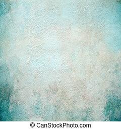 bonito, concreto, turquesa, parede, textura