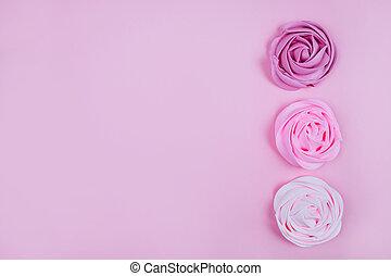 bonito, cor-de-rosa, merengue