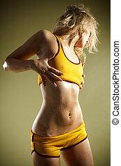 bonito, corporal, condicão física