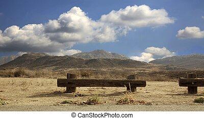 bonito, deserto, dia