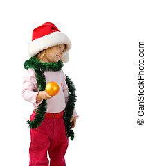 bonito, esfera, menininha, natal