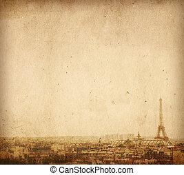 bonito, espaço, texto, imagem, ruas, -, parisian, ou