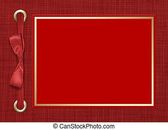bonito, estrutura, foto, bow., experiência., invitations., ou, vermelho