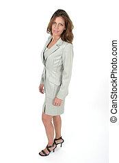 bonito, executivo, mulher, 2, negócio