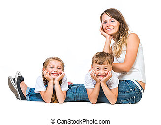 bonito, família feliz