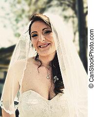 bonito, feliz, noiva