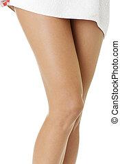 bonito, femininas, pernas