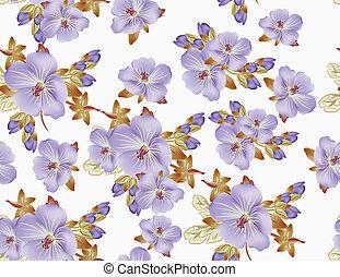 bonito, floral, vetorial, padrão