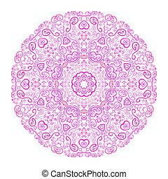 bonito, fundo cor-de-rosa, ornamental