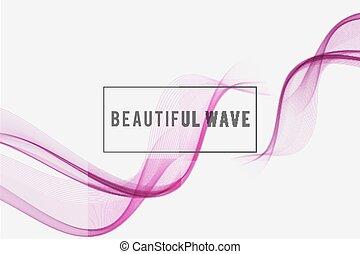 bonito, fundo, onda