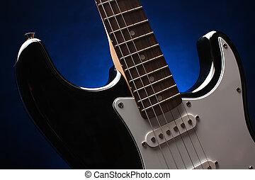 bonito, guitarra, elétrico, instrumento barbante