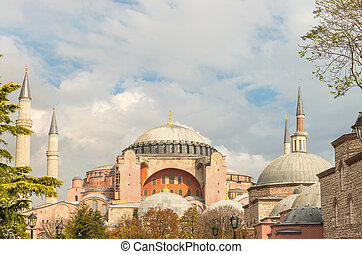 bonito,  Hagia, Istambul, Museu,  Sophia, vista