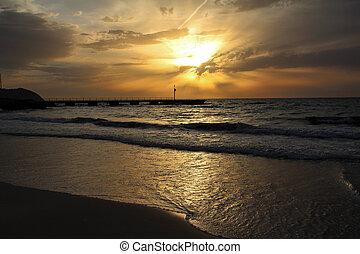 bonito, ilha, majorca, amanhecer