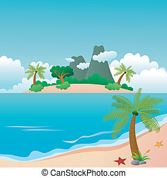 bonito, ilha, praia, paraisos