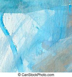 bonito, ilumine azul, aquarela, fundo