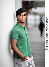 bonito, indianas, homem jovem