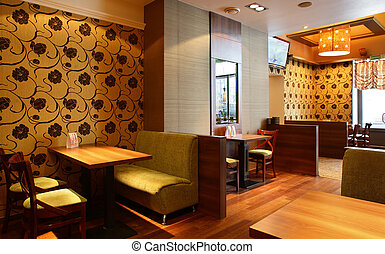 bonito, interior, modernos, restaurante