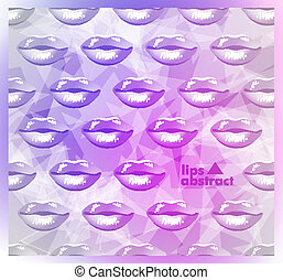 bonito, lábios, modernos, fundo, coloridos