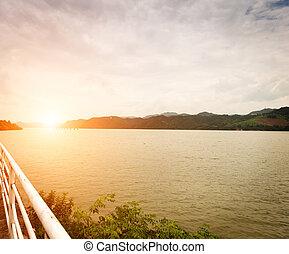 bonito, lago, paisagem
