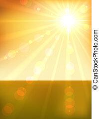 bonito, laranja, pôr do sol, fundo