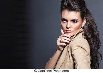 bonito, moda, foto, glamur, menina, estilo