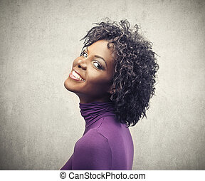 bonito, mulher preta