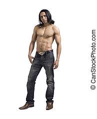 bonito, muscular, homem