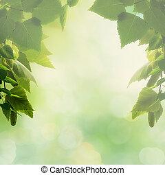 bonito, natural, espaço, fundos, desenho, foliage, cópia, seu